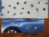16 Oracal Bullet Holes Shooting Hole Body Tribal Sticker Tattoo Car
