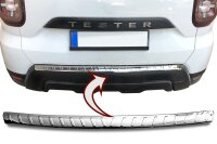 Stainless steel bumper protector for Dacia Duster II |from 2018 |polished with chamfer