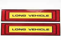 2 x XL Long Vehicle Sticker 50x10 Red Yellow Reflector...