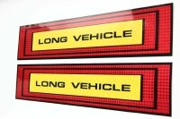 2 x XL Long Vehicle Sticker 50x10 Red Yellow Reflector Band Stripes Lorry AN22