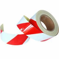 25m 4cm Warning Sign Red White Stripes Reflective Sticker...