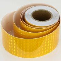 25m x 10cm Warning Sign Yellow Honeycomb Stripes Reflective Sticker Band