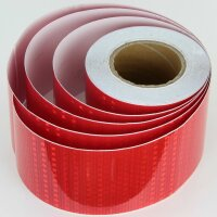 25m x 10cm Warning Sign Red Honeycomb Stripes Reflective Sticker Reflecting Band