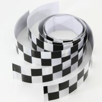 4 x 110cm Check Honeycomb Reflector Band Sticker Stripes Car Scooter Taxi2