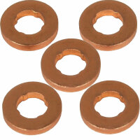 5x Copper Gasket Injector Injector for All VW 1.9 2.0 2.5 3.3 4.0 Tdi [D6]