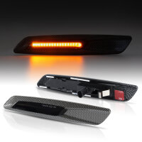 LED Seiten Blinker getönt CARBON für BMW 1er E81 E82 E87 E88 | X1 E84