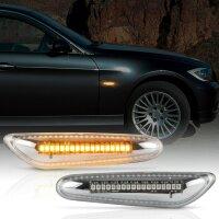 LED Seitenblinker für BMW 1er | E81, E82, E87, E88 | CHROM KLARGLAS