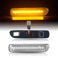 LED SEITENBLINKER für BMW 3er | E46 | Limo | Touring | BJ 1998-2001 | KLARGLAS