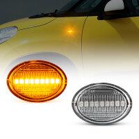 LED SEITENBLINKER für alle FIAT 500, 500C, 500L | BJ ab 2007- | KLARGLAS