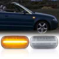 LED SEITENBLINKER für AUDI A3 + Sportback | Typ 8P | 2003-2008 | KLARGLAS