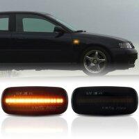 LED SEITENBLINKER für AUDI TT 8N BJ 1999-2002 | A8 4D BJ 1998-2006 | SCHWARZ