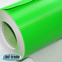 Carbon Foil Green 0,3 x 1,25m Carbon Look Wrapping Foil 3D Structure Bubble Free