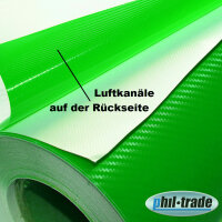 Carbon Foil Green 1,25m x 1m Carbon Look Wrapping Foil 3D Structure Bubble Free