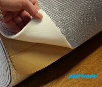 Insulation Mat anti Vibration 1 x 0,5 M Thermal Acoustic with Aluminium Special