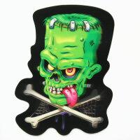 echter premium 3D Hologramm Aufkleber Frankenstein...
