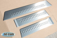 Stainless Steel Door Sill V2A Matte for Mercedes W447 3tlg with Splay