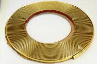 GOLD Chrom Zierleiste 12mm x 15m selbstklebend universal Auto Goldleiste Kontur
