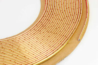GOLD Chrom Zierleiste 4mm x 15m selbstklebend universal Auto Goldleiste Kontur