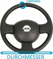 Steering Wheel Cover Black Blue Real Leather M 37 38 39 cm Protector