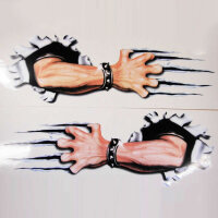 2 x Arm Scratch Scrapes Hand Door Sticker Oracal Body Car Tribal Tattoo