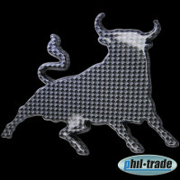 3D Carbon Emblem Sticker Logo Taurus Zodiac Sign Bull Bull Torro Taurus L003