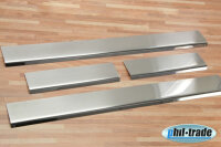 Stainless Steel Door Sill V2A Matte for Hyundai i10 4tlg with Splay