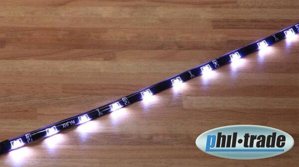 60cm SMD LED Leiste Stripe weiß side shine leuchtet seitlich flach Streifen