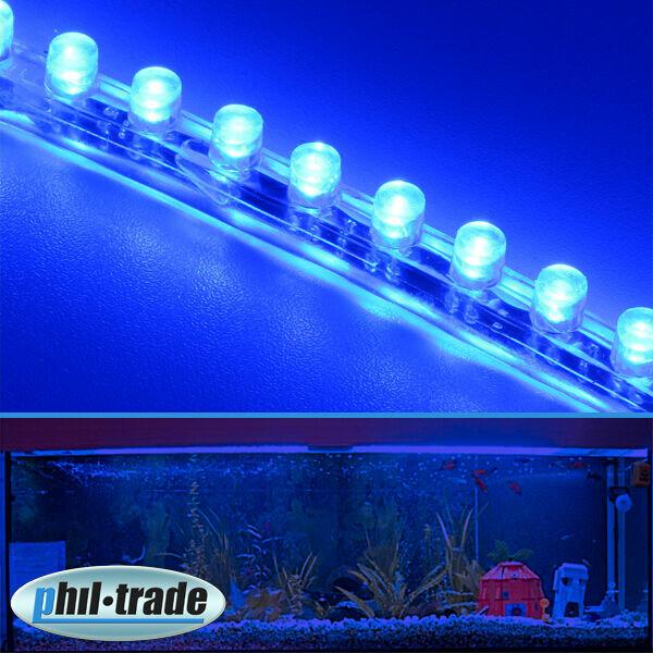 72cm 72 LED Leiste Streifen BLAU Lichtleiste wasserdicht Aquarium Mondlicht