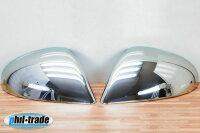 1 Set Stainless Mirror Caps V2A Chrome for VW Touareg II ab 04.2010-2014 (7P5)