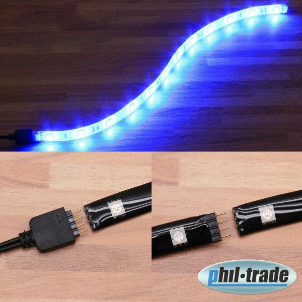 Erweiterbare LED Leiste zum Stecken blau 5050 SMD 30cm Steck System Strip Balken