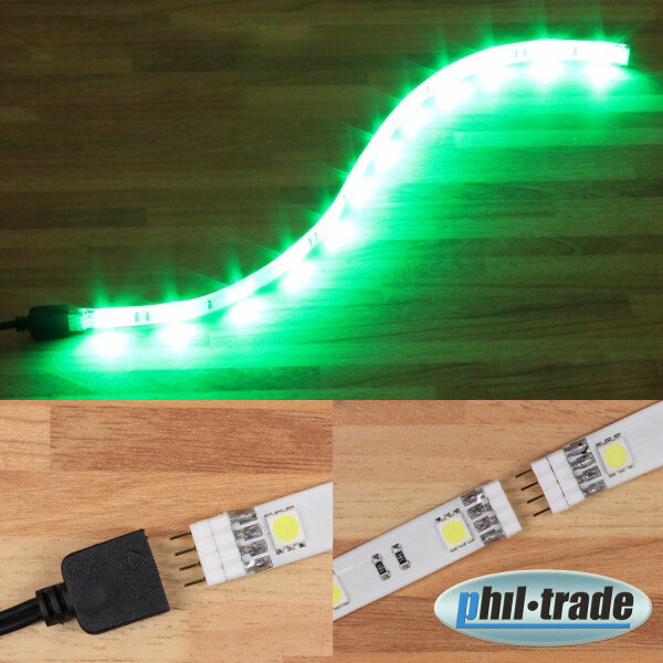 Extensible LED bar to the Plug Green 5050 SMD 30cm Push in System Strip BAR