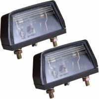 2x License Plate Lighting Lamp Light Trailer Car Stvo Approval 12V