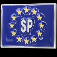 3D Chrome Emblem Sticker Flag Eu Sweden Sverige Europe Cup World L083