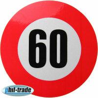 60 km / H Speed Sticker Speed Car Truck Bus Car