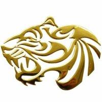 Sticker Gold Chrome 3D Emblem Tiger Car Motorcycle...