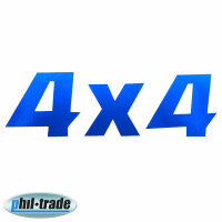 Blue Metallic 4x4 4-wheel off Road Sticker Emblem Logo...