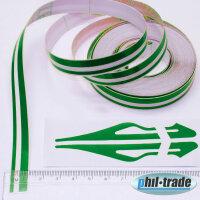 Double Trim Strips Pin-Stripe Green Car Universal 10m x 10mm Incl Anfang + Ends