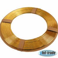 GOLD Zierleiste Keder Leiste U Profil 15 m Meter Chrom GOLD Kantenschutz