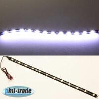 LED bar Beam Strip Light 12V Xenon White 30cm 12 x 5050 SMD Adhesive