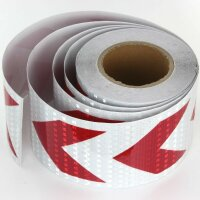 25m x 10cm Warning Sign Red White Bow Honeycomb Reflective Sticker Reflector