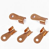 5 Pieces 200A 6mm Ring Cable Shoe Copper Tongue Connection Clamps Car Hifi K3