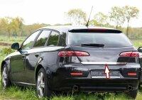 Stainless Steel Chrome Boot BAR Lower for Alfa Romeo 159 Saloon + Sportwagon