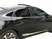 Stainless Steel Window Chrome for Honda Civic 10 Soda from Yr 2017- 8-tlg Set