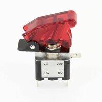 Knock out Knopf Schalter Kappe 12V 20A Auto schwarz rot LED Kill Switch