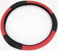 Steering Wheel Cover Black Red Carbon Design with Rubber...