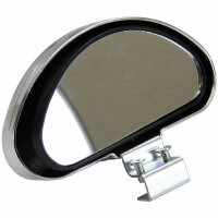 Additive Mirror outside Driving Wide Angle Blind Spot Attachment Chrome 080