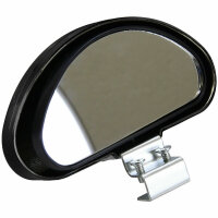 2x Additive Mirror outside Driving Wide Angle Blind Spot Attachment Black 080