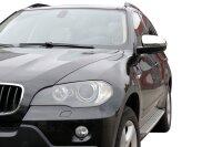 1 Set Stainless Mirror Caps V2A Chrome for BMW X5 E70 X6 E71 Decorative 2006