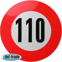 110 km / H Speed Sticker Speed Car Truck Bus Car