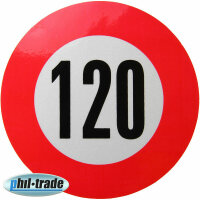 120 Km/H Speed Sticker Speed Car Truck Bus Car